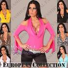 NEW SEXY CLUBWEAR TOP womens CLUBBING SHIRT 6 8 10 12 DANCE PARTY WEAR XS S M L