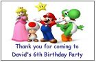 PERSONALISED SUPER MARIO MAGNETS - PARTY BAG FILLERS / GIFTS