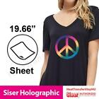 """Siser HOLOGRAPHIC Heat Transfer Vinyl 20"""" x 12"""" (1 Foot) FAST SHIPPING!"""