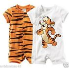 New baby Short Sleeve Cartoon Tiger Romper Infant Rompers Outfit Girl Children