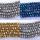 Top Quality Czech Chic Glass Faceted Rondelle Spacer Charms Beads 6MM 8MM 10MM