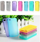 STYLISH SLIM CRYSTAL Scrub CLEAR CASE COVER sleeve With dust plug For iPhone 4S