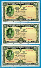 Rare Irish Banknotes LAVERY One Punt Consecutive Notes Early Issues Etc AU - UNC