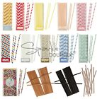 PAPER DRINKING STRAWS - Wedding Sweetie Bar or Retro Birthday Party Decorations