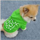 2016 New Summer Various Pet Puppy Small Dog Cat Pet Clothes Vest T Shirt Apparel