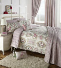 Floral Rose Pink Butterfly Vintage Duvet Cover and Pillowcase Set