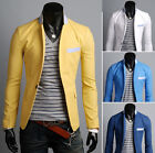 Mens Vogue Casual Slim Fit Collared One Button Suit Blazer Coat Outwear 9083