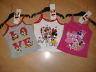 NEW GIRLS DISNEY MINNIE MOUSE STRAP TOP T SHIRT TEE SHIRT AGES 2 3 4 5 6 7 8
