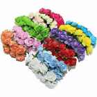 144pcs Miniature Mulberry Paper Rose Flower Cards Favours Crafts Embellishment