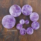 Pair of Amethyst Natural Organic Stone Plugs gauges Tunnel ear expander 13 sizes
