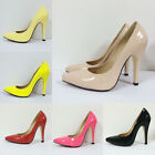 NEW WOMEN HIGH HEEL POINTED CORSET STYLE WORK PUMPS COURT SHOES CG021 UK 2-9