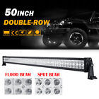 52INCH 500W LED WORK LIGHT BAR SPOT & FLOOD COMBO BEAM 4WD ATV SUV OFFROAD 300W