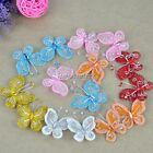 C1MY 20 PCS Organza Wire Butterfly Wedding Decorations 6 Colors Wedding Favor It