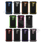 Heavy Duty Rubber Hybird Silicone Shock Proof Hard Case Cover Fit For LG G2 D801