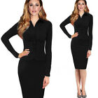 Celeb Split Design Vogue Long Sleeve Women Wear to Work Party Mini Pencil Dress