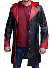 DEVIL MAY CRY 5 - DANTE 100% GENUINE COWHIDE LEATHER TRENCH COAT / JACKET