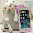 3D Lovely Buck Teeth Rabbit Silicone Phone Case Cover Back For iPhone 5 5G 5S