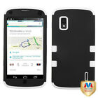 LG Nexus 4 Google Phone E960 Hybrid T Armor Hard Case Skin Cover
