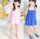 New Summer Kids dress 2-7Y Clothes Girls Dress Fashion Strap Dress AD78