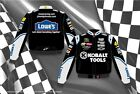 Jimmie Johnson Kobalt Mens Black Cotton Twill Authentic Nascar Jacket-JH Design