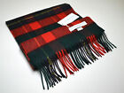 JOHNSTONS OF ELGIN 100% CASHMERE Tartan Pattern Scarf - MADE IN SCOTLAND