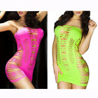 woo Womens Sleeveless Strapless Sexy Hollow Yellow Rose Red Mini Dress Lingerie
