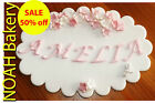 Personalized Name Sugar Letters On Edible Plaque Cake Cupcake Toppers Any Styles