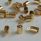 4mm SILVER OR GOLD PLATED CORD BARREL END CAPS KUMIHIMO NECKLACE BRACELET TIPS