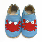 Soft Leather Baby Boy Girl Shoes Slippers 0-6,6-12,12-18,18-24,24-36 MTHS Crabs