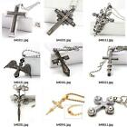 b403m50 Men Stainless Steel cross Chain dangle Pendant Necklace Men's Jewelry