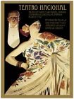 4356.Teatro Nacional.Woman in flowers dress.POSTER.decor Home Office art
