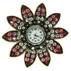 WOMEN TV SHOW STAGE PROPERT MUTICOLOR RHINESTONE FLOWER RING WATCHES
