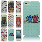 Cute Painted TPU Pattern Soft Case Silicone Gel Skin Cover For iphone 4 4S 5 5S