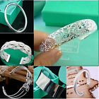 Wholesale Classic Solid 925Silver Womens/men Bracelet/Bangle & Box Good Gift