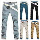 New Men's Fashion Casual Pants Slim Fit Trousers Straight Pants 7 colors MKX054