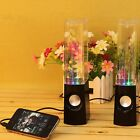USB LED Light Water Fountain Dancing Show Music Speaker for Laptop PC Tablet MP3