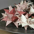 3D Origami Paper Star Folding Kit - 60 Extra Large Weaving Strips Xmas Crafts