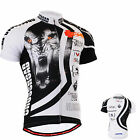 Fixgear mens cycling team jersey bike clothing tight sports cycle shirts S~3XL