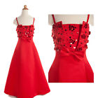 Hot Sale Flower Girl Dress Formal Festival Party Wedding Evening Celeb Proms Red