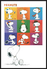 """PEANUTS - FRAMED TV SHOW POSTER / PRINT (SNOOPY - 9 IMAGES) (SIZE: 24"""" X 36"""")"""