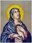 5835.Virgin mary crying holding jesus' crown of thorns.POSTER.Home Office art