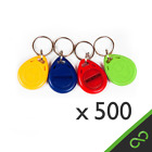 500 Pcs RFID Tags/Tag/ Keys/ Key Proximity Staff Access Login ID Keyfobs 125kHz