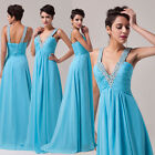 New Houri Sequins Beaded Evening Formal Bridesmaid Wedding Party Prom Long Dress