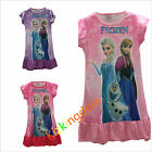 DISNEY FROZEN QUEEN ELSA AND ANNA DRESS COSTUME NIGHTIE PYJAMAS SIZE 2-8