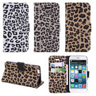"Leopard Skin 4.7"" Card Slot Wallet Flip Leather Stand For iPhone 6 Case Cover"