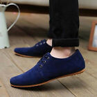 British Men's Casual Lace Slip On Loafer Shoes Moccasins Driving Shoes -01