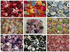 MIXED BUTTONS Assorted Colours Shapes Bulk Bag Crafts 50g 75g 100g 200g various