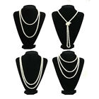 9MM Faux Pearl Long necklace sweater chain fashion YOU CHOOSE - Black or White