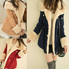 Warm Women Winter Double Breasted Outwear Soft Broadcloth Big Collar Coat WWM214