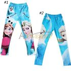 Girl's Frozen Princess Anna Elsa Skinny Leggings Pencil Tights Pants Trousers